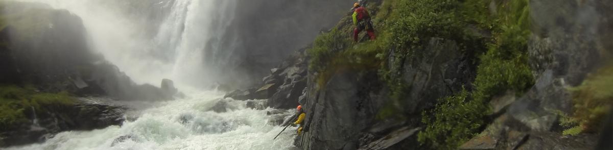 Hivjufossen, Waterfall Rescue, Surveillance Camera, Rescue Stick, Camera Pole, Norway River Rescue, Red Cross Rescue Corps