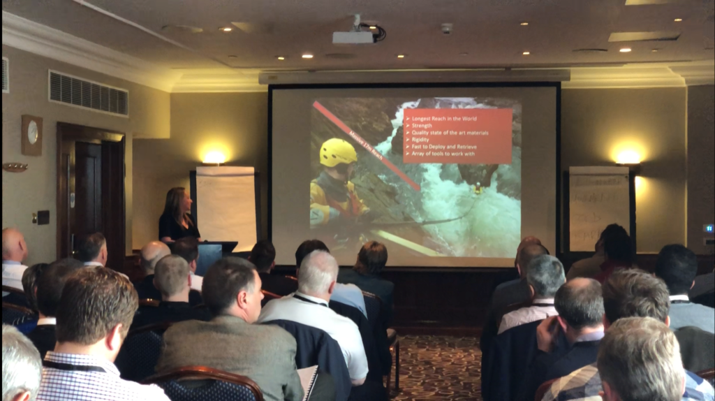 Jo Taylor, Reach and Rescue, presents at the Man Overboard Conference 2018