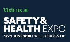 An image displaying the logo of Safety & Health Expo at which Reach and Rescue are exhibiting