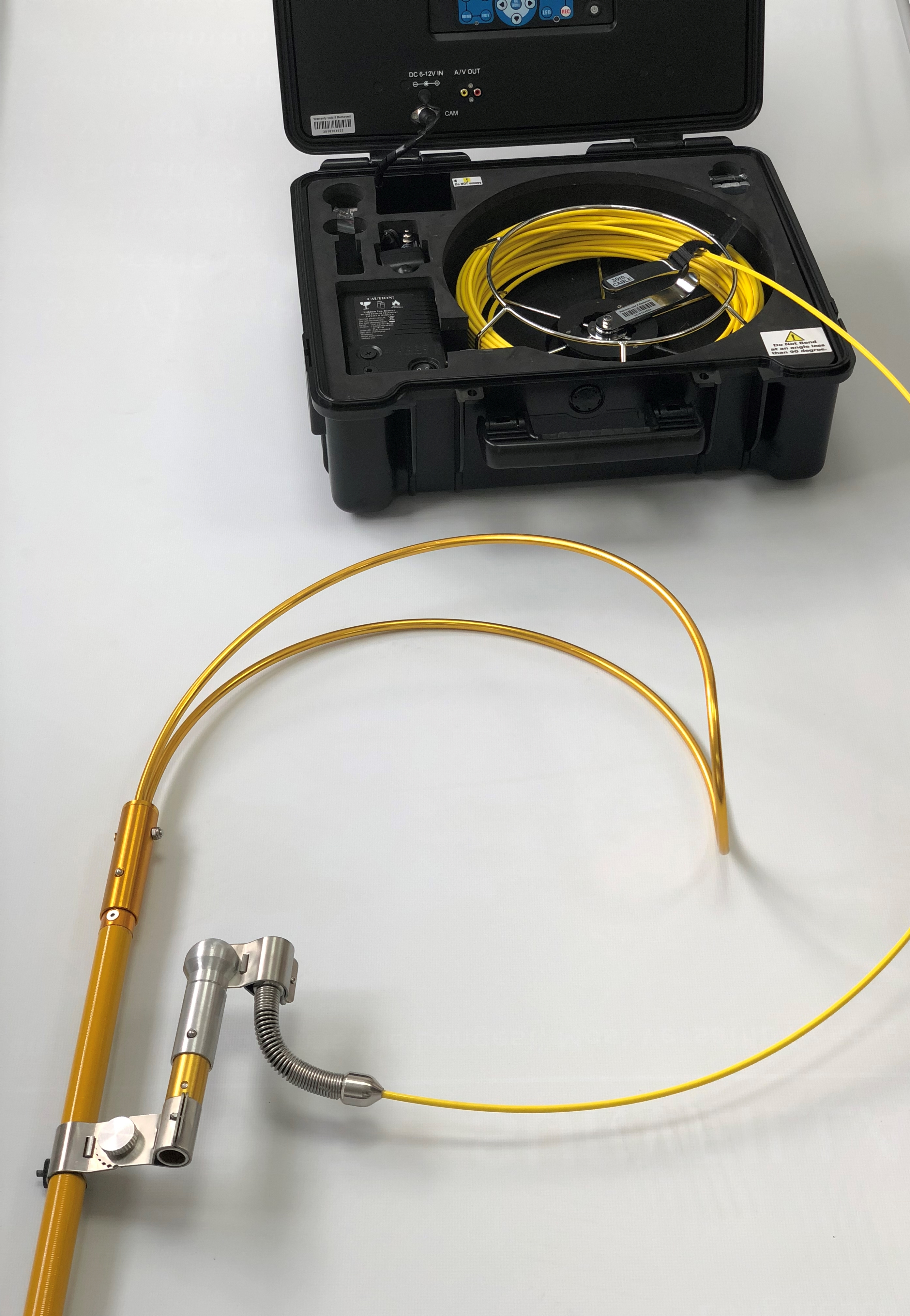 An image displaying the Reach and Rescue Body Finder and Recovery Aid with the Inspection Camera and Body Hook