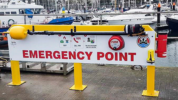 Emergency Point on Commercial Pier at Bangor Marina