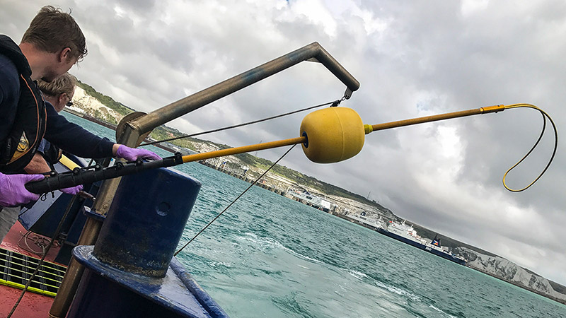 Rescue Pole with Body Hook Used on Commercial Fishing Vessel