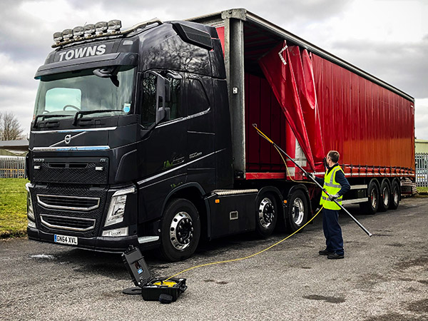 Search and Inspection Camera used to inspect lorry