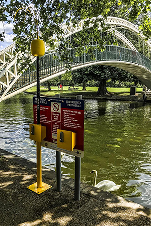 Portsafe with Rescue Pole and Emergency Throwline Board Throwbag by River Bedford