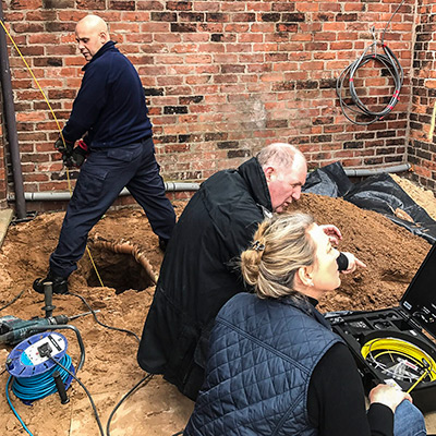 Using the Search and Inspection Camera in a Hole in the Ground